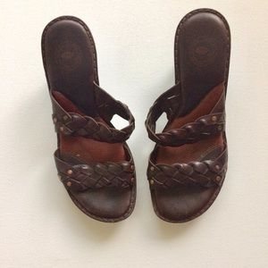 Nurture by Lamaze Brown Weave Wedge Sandal Size 8M
